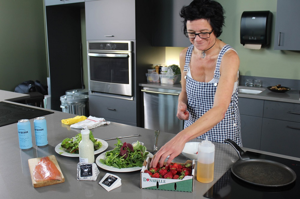 Truite grillée l'érable et salsa de fraises, Que du Bonheur, Compton, Cantons-de-l'Est