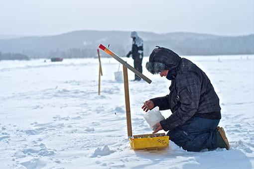 Pêche sur glace dans la région de Coaticook